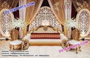 Gorgeous  Asian Wedding Back Wall Frame Stage
