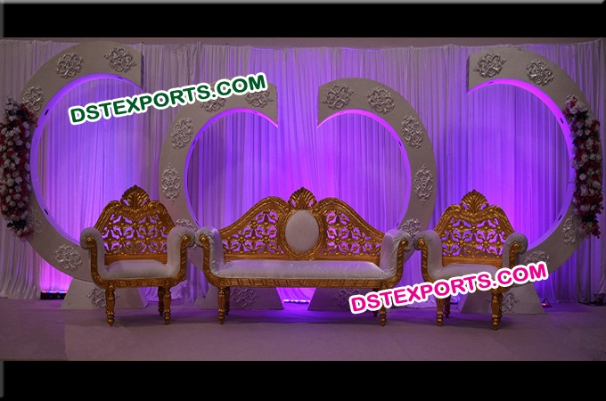 Weddiing  Stage With Backdrop Frames