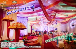 Wedding Embroidered Umbrellas for Mehandi stage