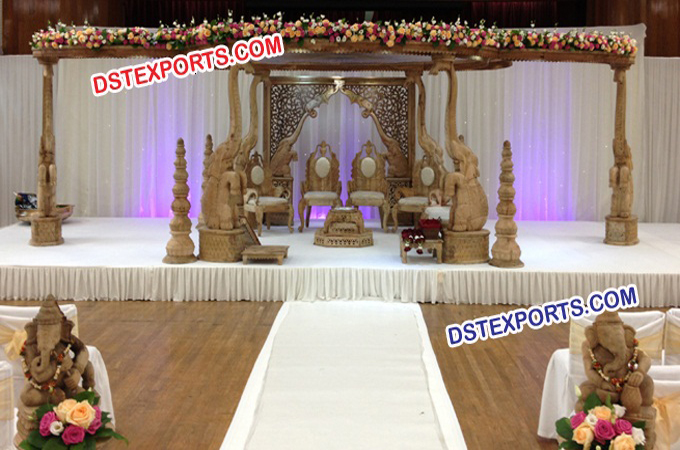 Indian Wedding Elephant Mandap