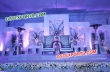 Asian wedding Ceremony Stage With Leather Tufted Chairs