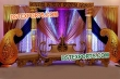 Golden Paisley Stage With Fiber Crystal Pillar
