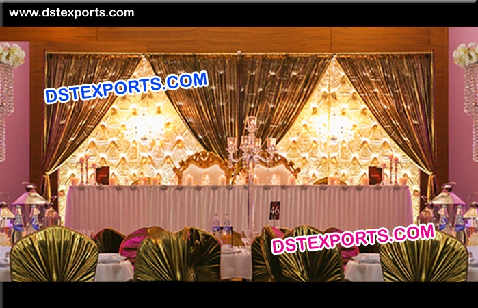 Crystal Fitted Wedding Stage