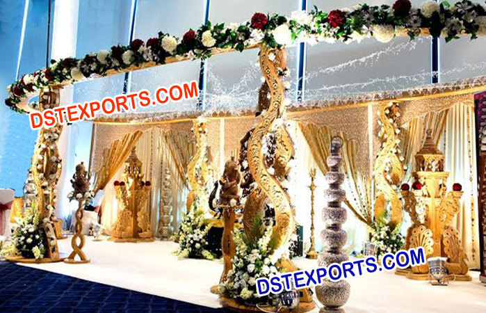 Indian Wedding Wooden Handicraft Twist Mandap