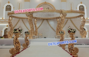 Stylish Wooden Hand Carved Mandap For Wedding