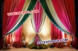Latest  Design  Asian Wedding Stage Backdrop Curtains