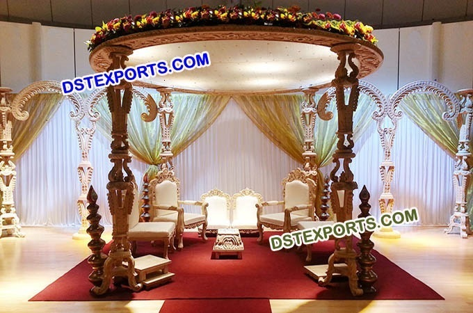 Latest Design Wedding Wooden Mandap Set