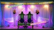 Decorated  Crystal Pillar Stage Set For Vivah