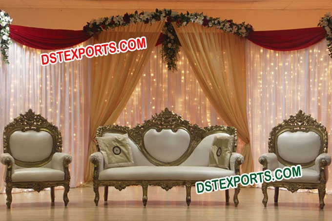 Indian  Wedding  Gold Love Sofa Set