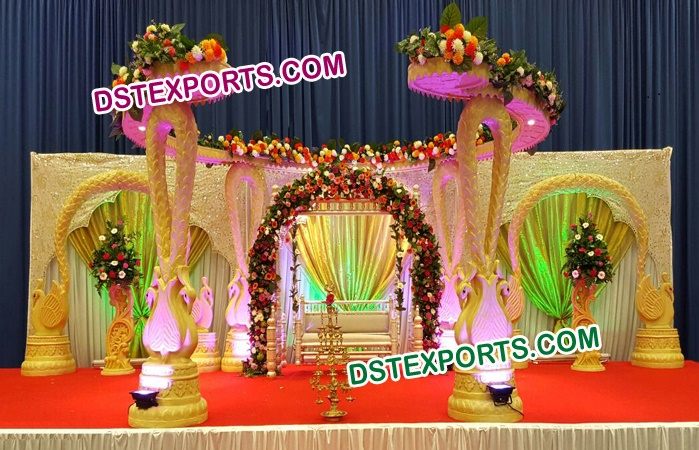 Antique Wooden Carved Mandap