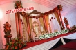 Half moon Wooden  Wedding  Stage With Chair Set