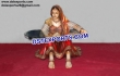 Traditional Rajasthani Lady Statue Table